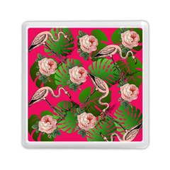 Flamingo Floral Pink Memory Card Reader (square) by snowwhitegirl