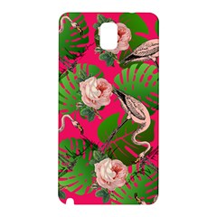 Flamingo Floral Pink Samsung Galaxy Note 3 N9005 Hardshell Back Case by snowwhitegirl