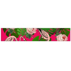 Flamingo Floral Pink Large Flano Scarf  by snowwhitegirl