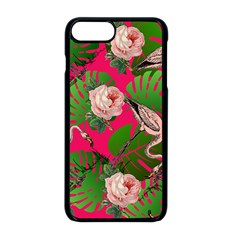 Flamingo Floral Pink Apple Iphone 8 Plus Seamless Case (black) by snowwhitegirl