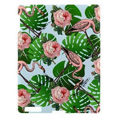 Flamingo Floral Blue Apple Ipad 3/4 Hardshell Case by snowwhitegirl