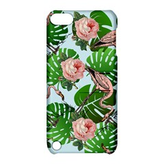 Flamingo Floral Blue Apple Ipod Touch 5 Hardshell Case With Stand by snowwhitegirl