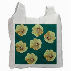 Teal Tulips Recycle Bag (one Side) by snowwhitegirl