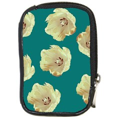 Teal Tulips Compact Camera Leather Case by snowwhitegirl