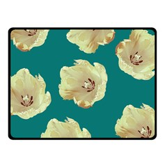 Teal Tulips Fleece Blanket (small) by snowwhitegirl