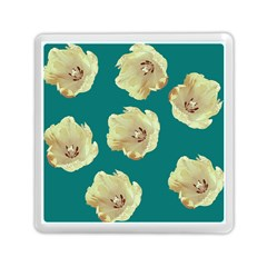 Teal Tulips Memory Card Reader (square) by snowwhitegirl