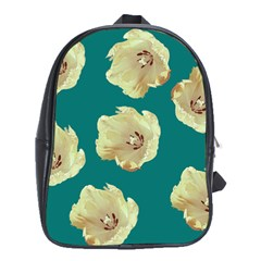 Teal Tulips School Bag (xl) by snowwhitegirl