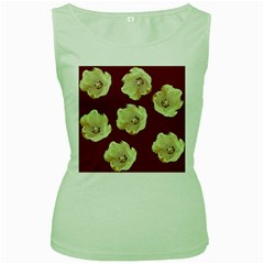 Red Tulips Women s Green Tank Top