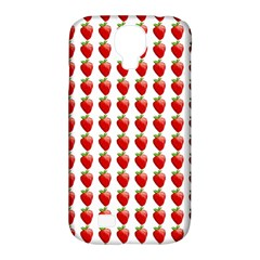 Strawberries Samsung Galaxy S4 Classic Hardshell Case (pc+silicone) by snowwhitegirl