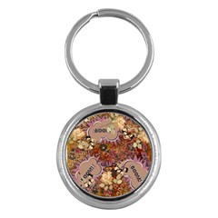Pinup Floral Key Chains (round)