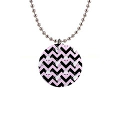 Pink Teapot Chevron Button Necklaces by snowwhitegirl
