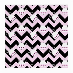 Pink Teapot Chevron Medium Glasses Cloth