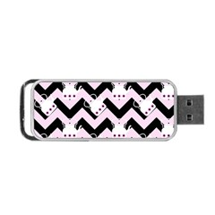 Pink Teapot Chevron Portable Usb Flash (two Sides) by snowwhitegirl