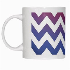 Pink Blue Black Ombre Chevron White Mugs by snowwhitegirl
