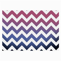Pink Blue Black Ombre Chevron Large Glasses Cloth (2-side)