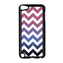 Pink Blue Black Ombre Chevron Apple Ipod Touch 5 Case (black) by snowwhitegirl