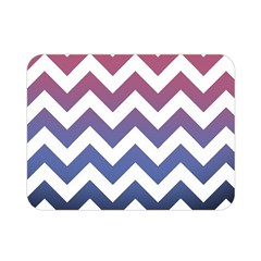 Pink Blue Black Ombre Chevron Double Sided Flano Blanket (mini)  by snowwhitegirl