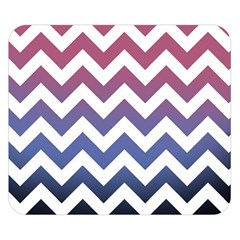 Pink Blue Black Ombre Chevron Double Sided Flano Blanket (small)  by snowwhitegirl