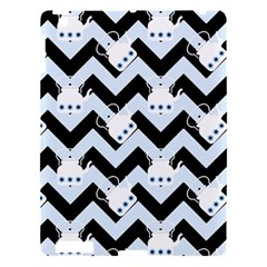 Blue Teapot Chevron Apple Ipad 3/4 Hardshell Case by snowwhitegirl