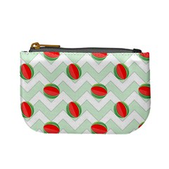 Watermelon Chevron Green Mini Coin Purse by snowwhitegirl