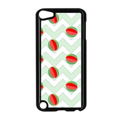 Watermelon Chevron Green Apple Ipod Touch 5 Case (black) by snowwhitegirl