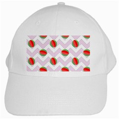 Watermelon Chevron White Cap