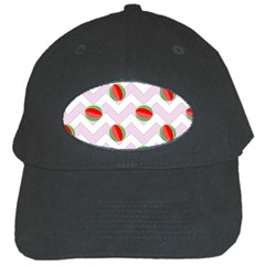 Watermelon Chevron Black Cap