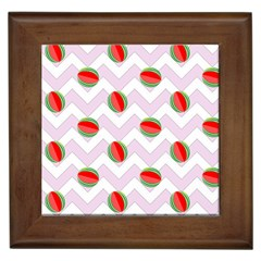 Watermelon Chevron Framed Tiles