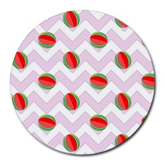 Watermelon Chevron Round Mousepads