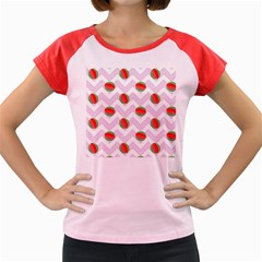 Watermelon Chevron Women s Cap Sleeve T-Shirt