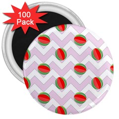 Watermelon Chevron 3  Magnets (100 pack)