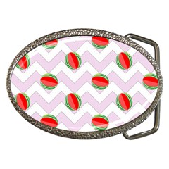 Watermelon Chevron Belt Buckles by snowwhitegirl