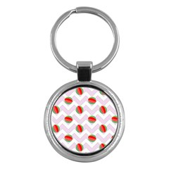 Watermelon Chevron Key Chains (Round)