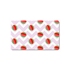 Watermelon Chevron Magnet (Name Card)