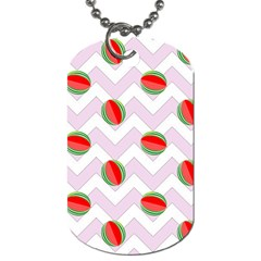 Watermelon Chevron Dog Tag (One Side)
