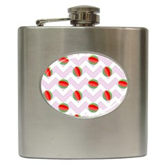 Watermelon Chevron Hip Flask (6 Oz) by snowwhitegirl