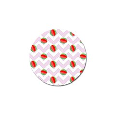 Watermelon Chevron Golf Ball Marker