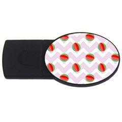 Watermelon Chevron USB Flash Drive Oval (2 GB)