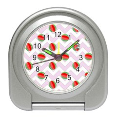Watermelon Chevron Travel Alarm Clock