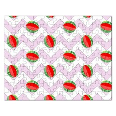 Watermelon Chevron Rectangular Jigsaw Puzzl by snowwhitegirl