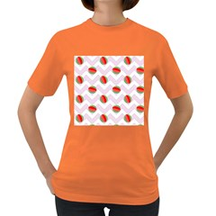 Watermelon Chevron Women s Dark T Shirt by snowwhitegirl