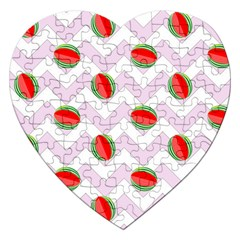 Watermelon Chevron Jigsaw Puzzle (Heart)