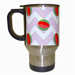 Watermelon Chevron Travel Mugs (White)