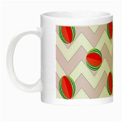 Watermelon Chevron Night Luminous Mugs by snowwhitegirl