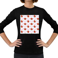 Watermelon Chevron Women s Long Sleeve Dark T-Shirt