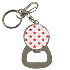 Watermelon Chevron Bottle Opener Key Chains