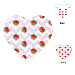 Watermelon Chevron Playing Cards (Heart)