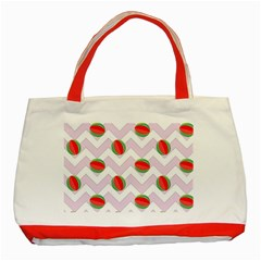 Watermelon Chevron Classic Tote Bag (Red)