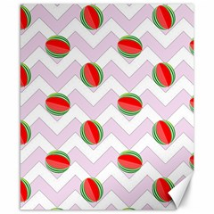 Watermelon Chevron Canvas 8  X 10  by snowwhitegirl