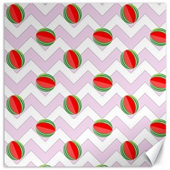 Watermelon Chevron Canvas 12  x 12